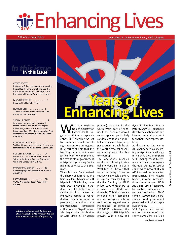 25TH Anniversary Newsletter – Enhancing Lives