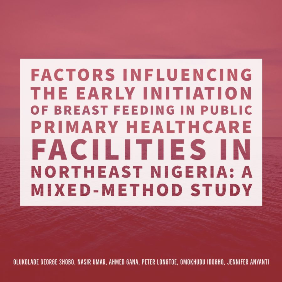 Factors influencing the early initiation of breast feeding in public primary healthcare facilities in Northeast Nigeria: a mixed-method study