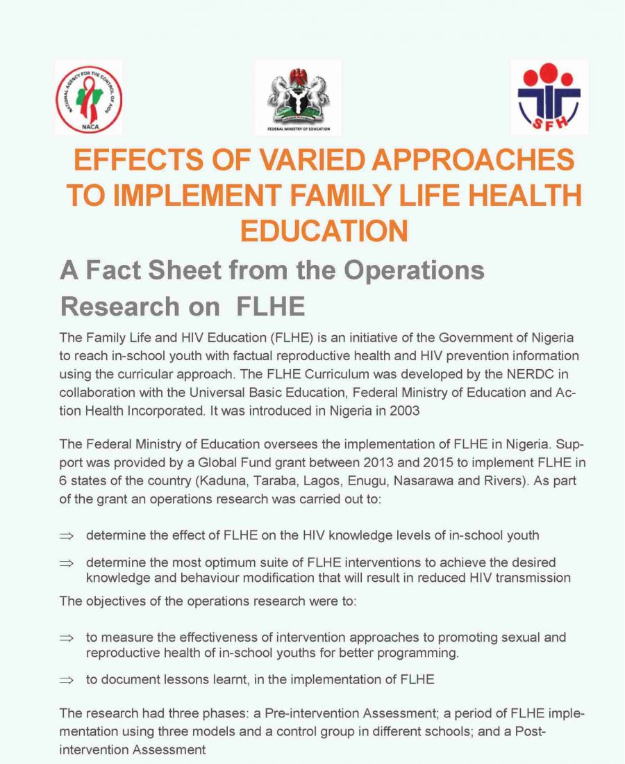 A Fact Sheet from the Operations Research on FLHE