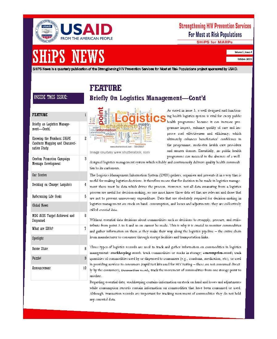 SHiPS News Vol 1 Is 4 2015