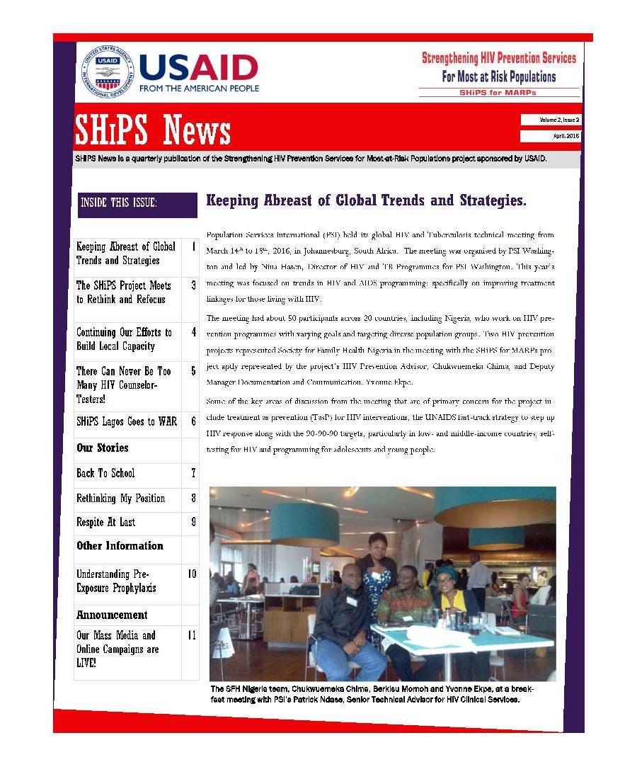 SHiPS News Vol 2 Is 2 April 2016