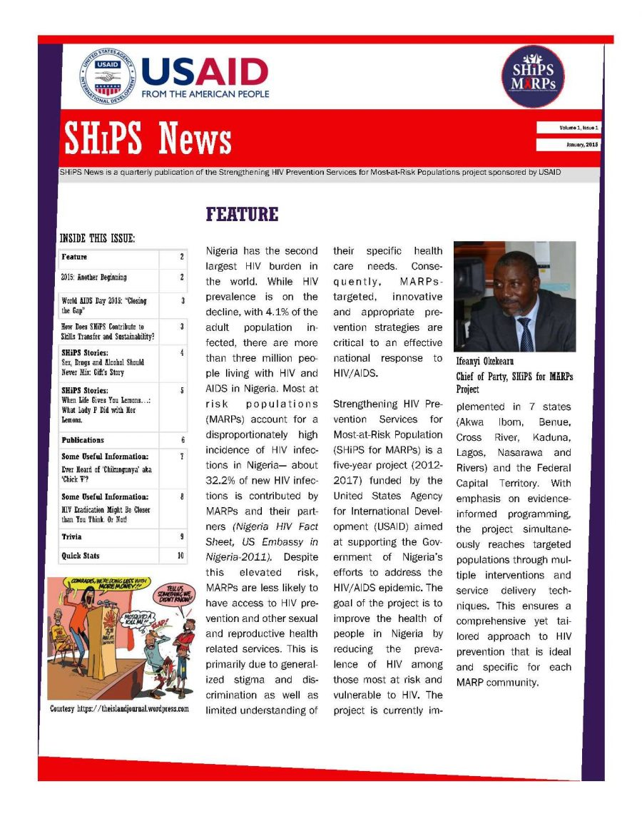 SHiPS News Vol. 1, Is. 1