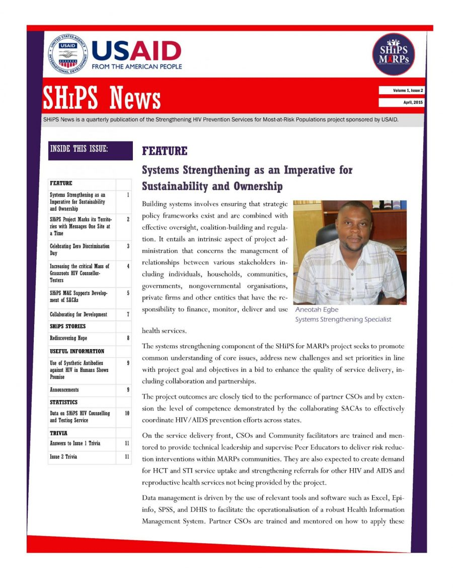 SHiPS News Vol. 1, Is. 2