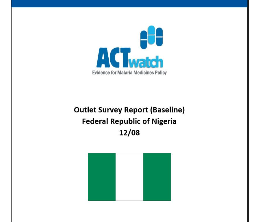 Outlet Survey Report (Baseline) (ACTWatch 2008)