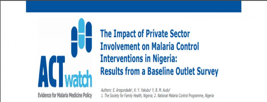 Survey results: Impact of Private Sector involvement on Malaria control in Nigeria
